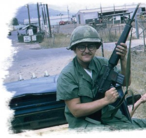 Young Joe at war in Binh Dinh Province Vietnam 1970