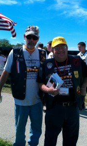 Joe and his friend at a Vietnam Veteran event