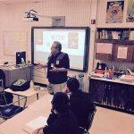 Speaking at Abbot Junior High School Waukegan Illiniois