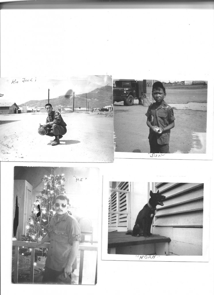 Collection of black and white photos while in service