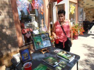 Daughter JoAnn at Joe's book signings