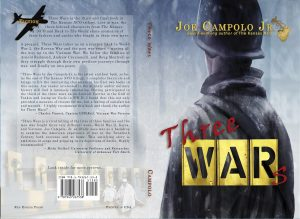Award-winning book cover of Three Wars by Joe Campolo Jr.